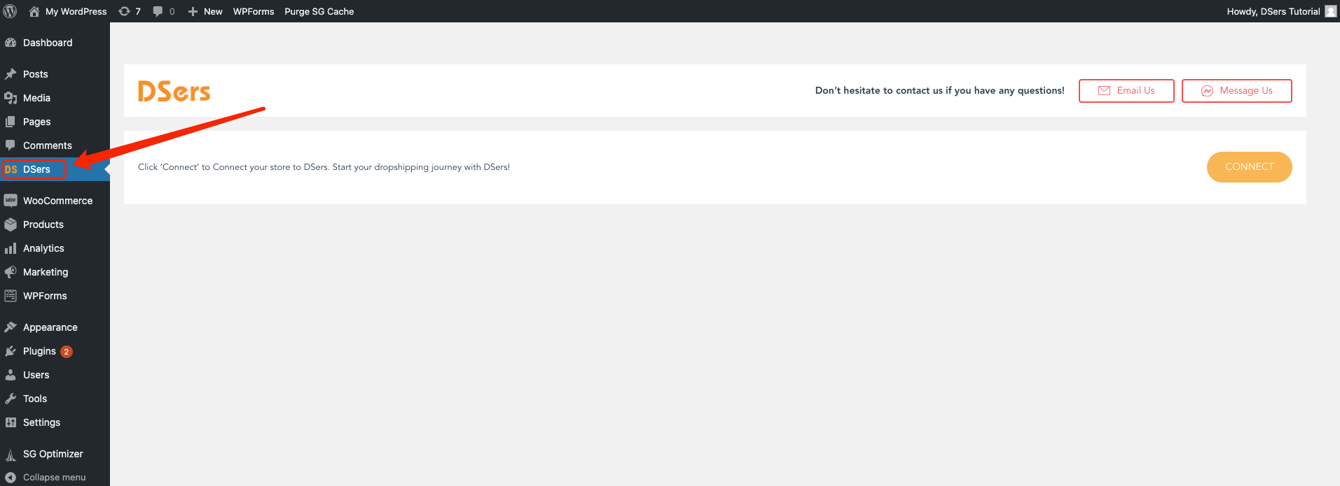 Manually install DSers on WordPress - find DSers - Woo DSers