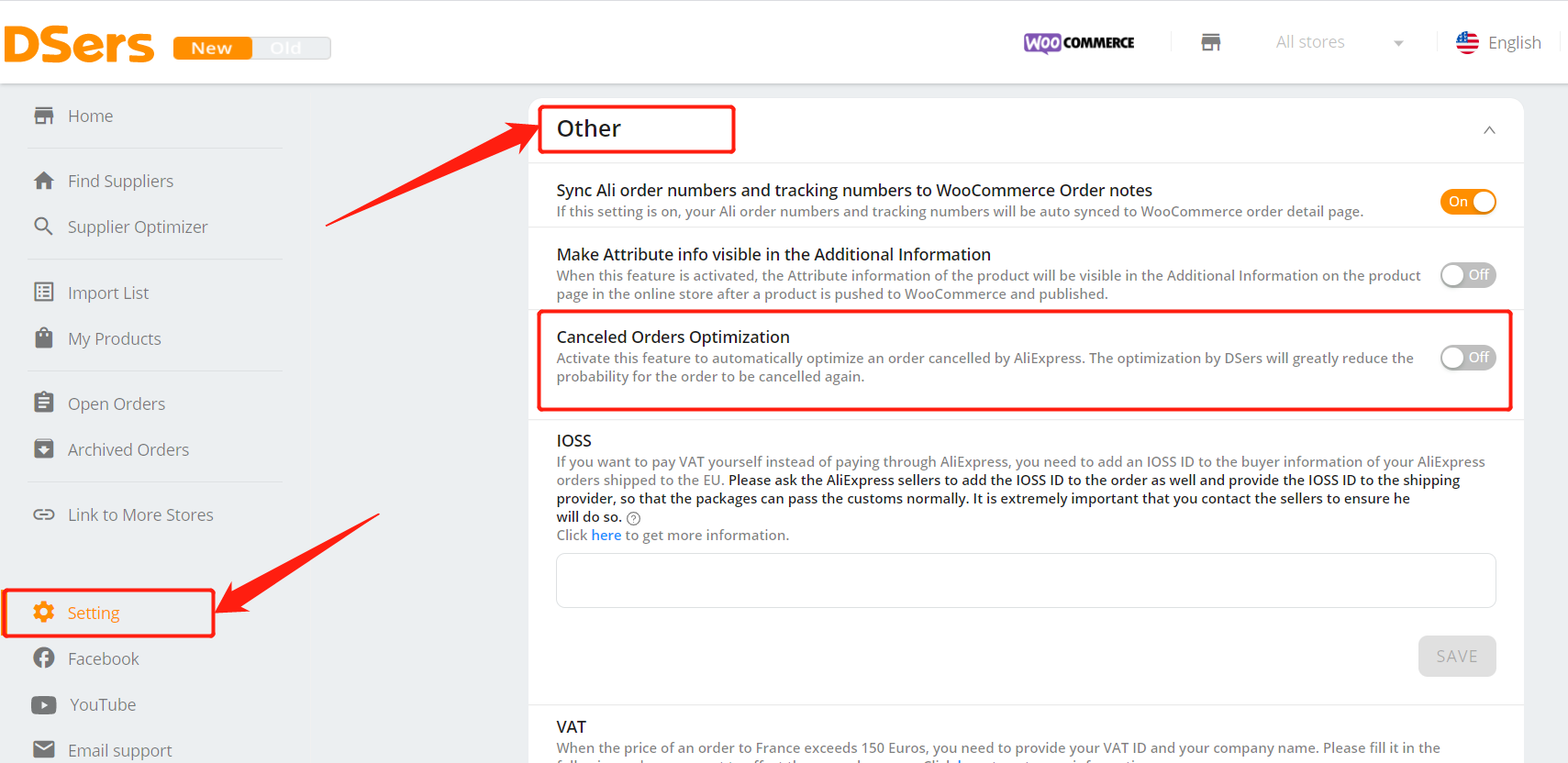 AliExpress Canceled Orders Optimization with Woo DSers - Access Setting - Woo DSers