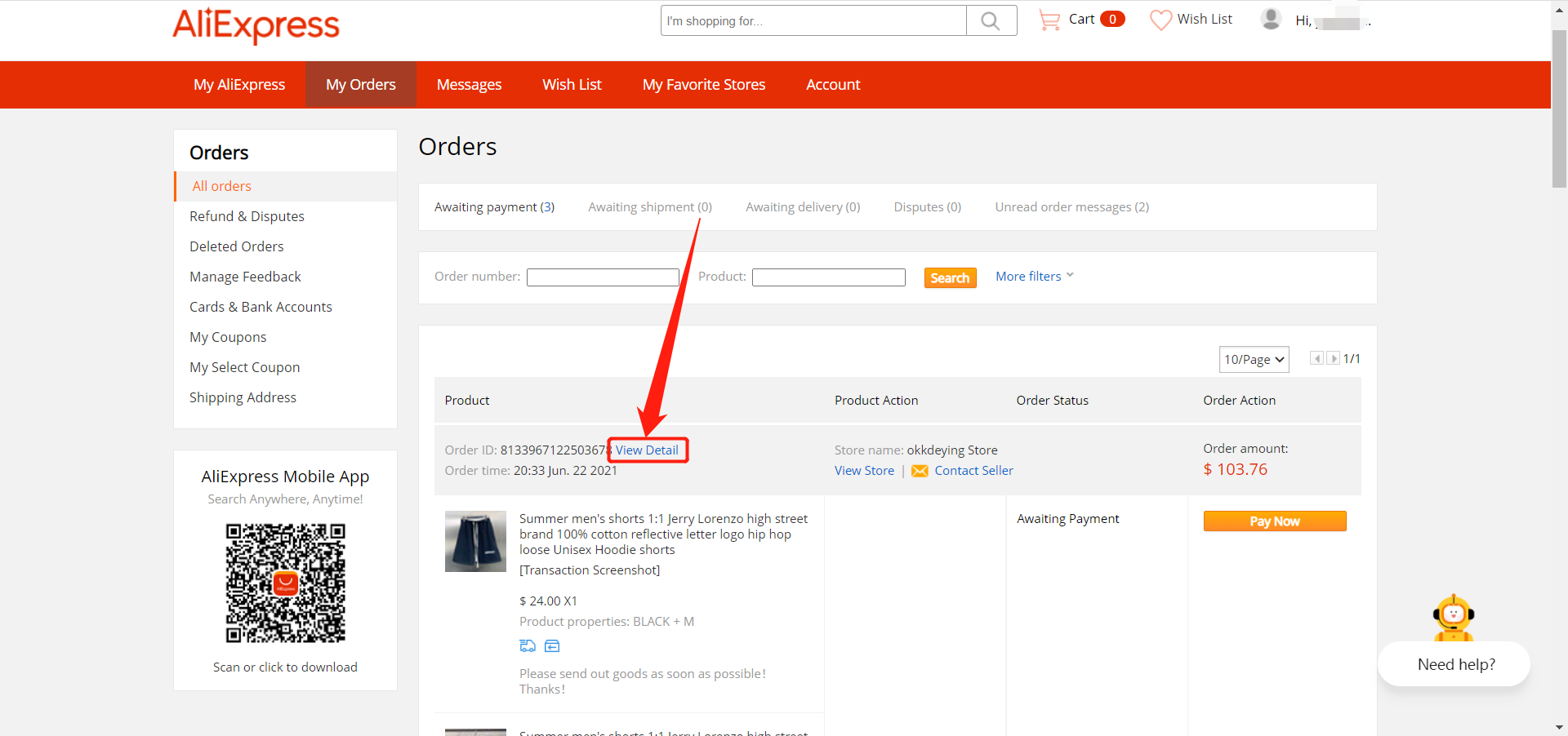 Default message to AliExpress suppliers with Woo DSers - View detail - Woo DSers