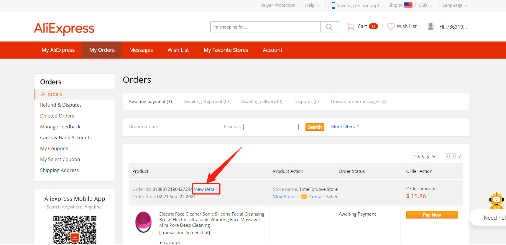 Specific message to an AliExpress supplier with Woo DSers - View detail - Woo DSers