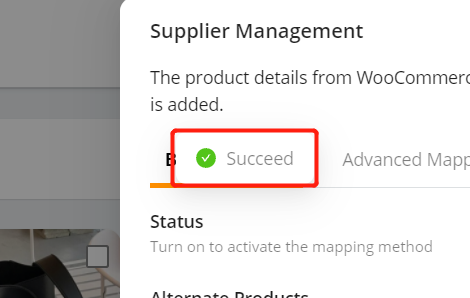 Add a substitute supplier to a WooCommerce product with Woo DSers - Success Notification - Woo DSers