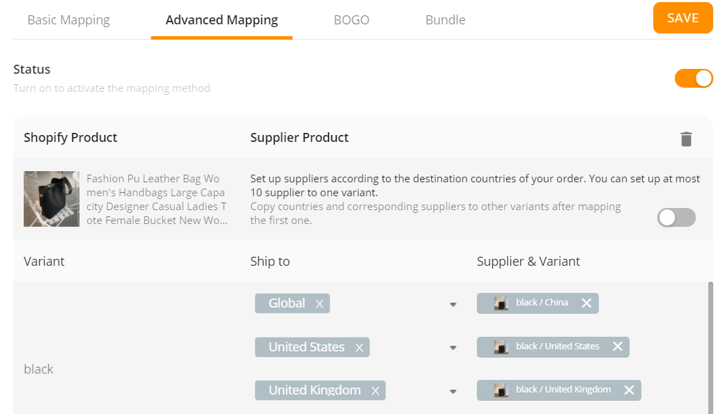 Basic Mapping Advanced Mapping BOGO Introduction with Woo DSers - Advanced Mapping - Woo DSers
