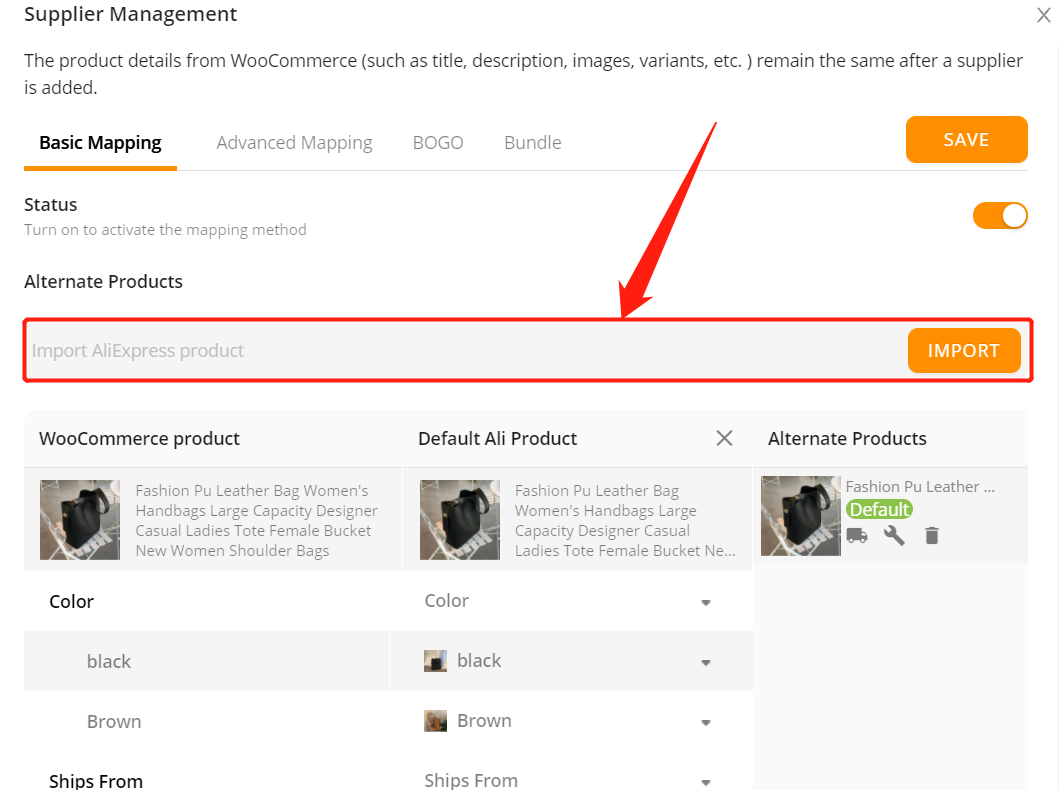 Change supplier of a WooCommerce product with Woo DSers - Import URL - Woo DSers