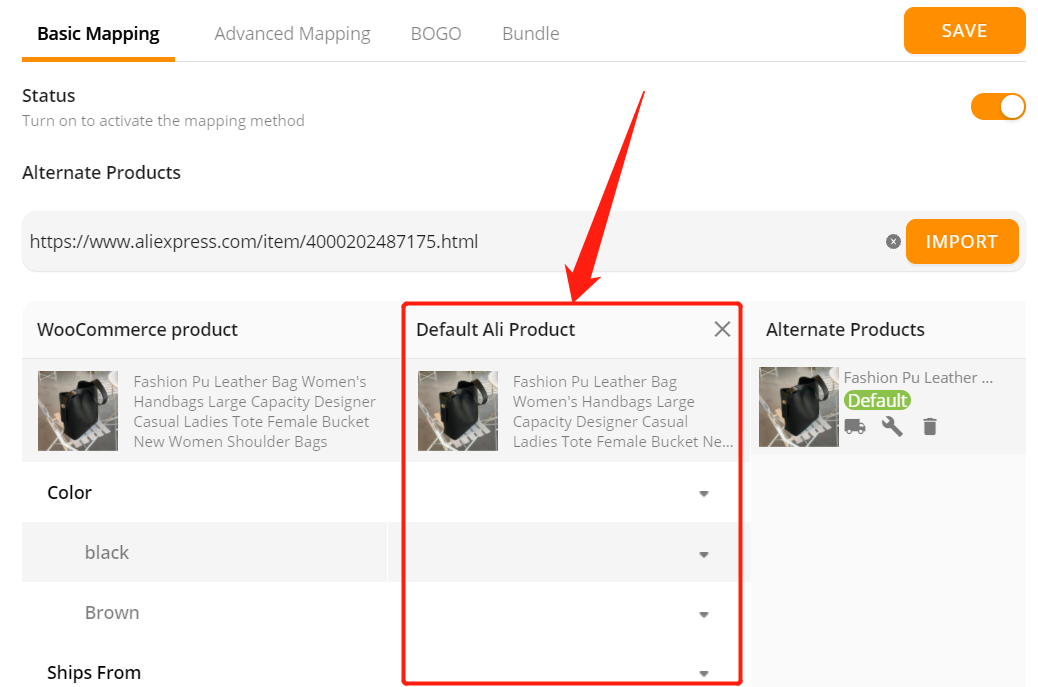Connect AliExpress suppliers to your products with Woo DSers - Default AliExpress product will be empty - Woo DSers