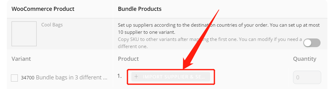 Create Bundles of products with Woo DSers - Map bundles of three products - Woo DSers