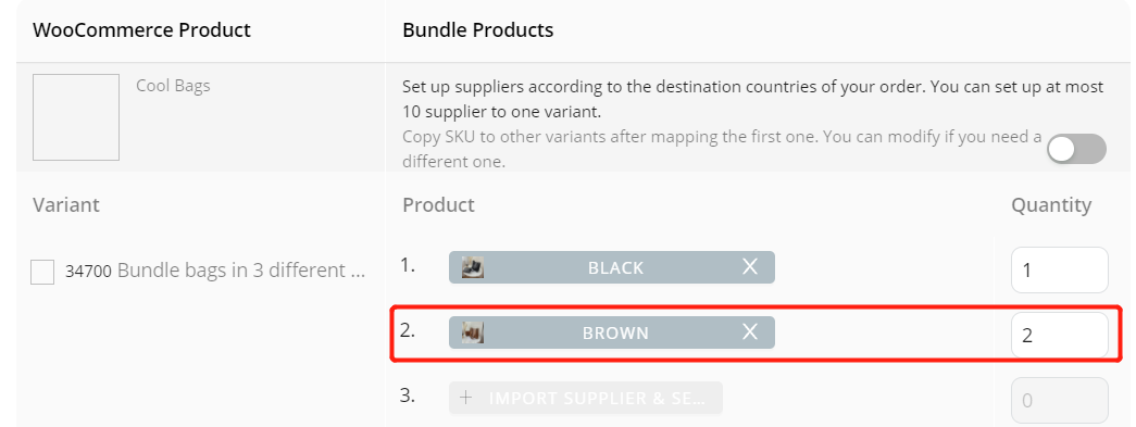 Create Bundles of products with Woo DSers - Map Gold Product - Woo DSers