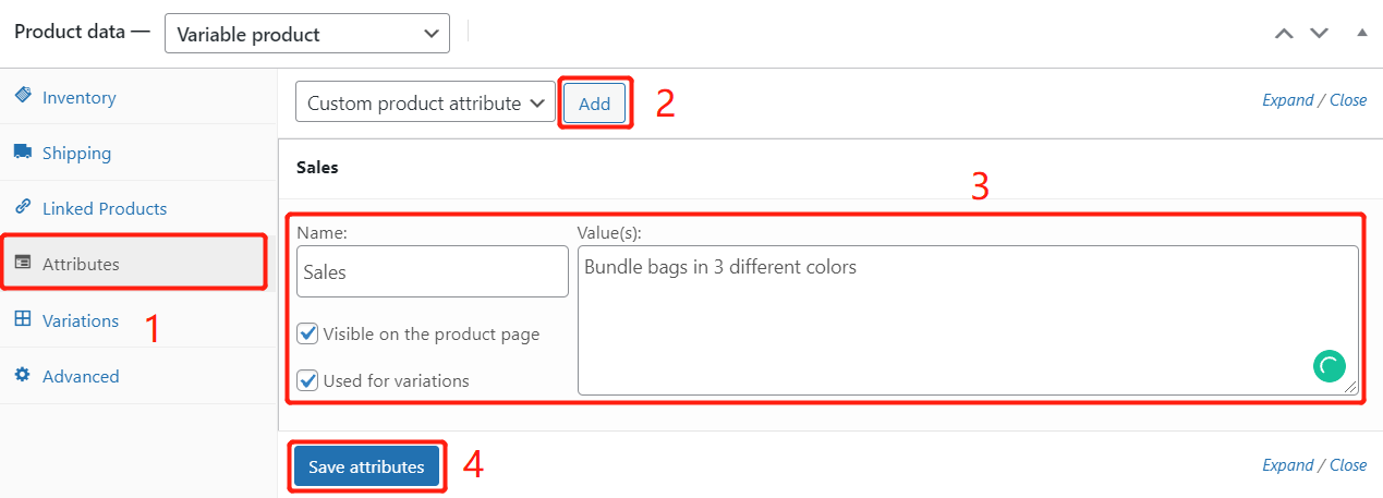 Create Bundles of products with Woo DSers - Create new attribute - Woo DSers