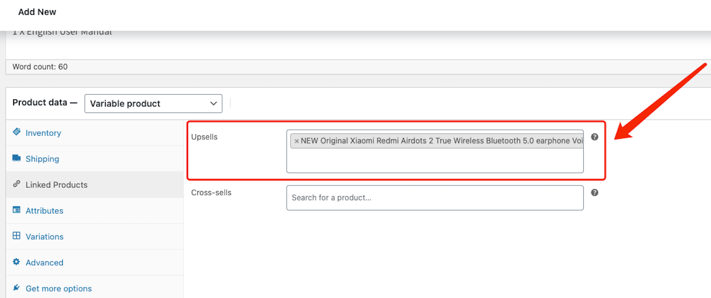 Create a product on WooCommerce with Woo DSers - Upsells - Woo DSers