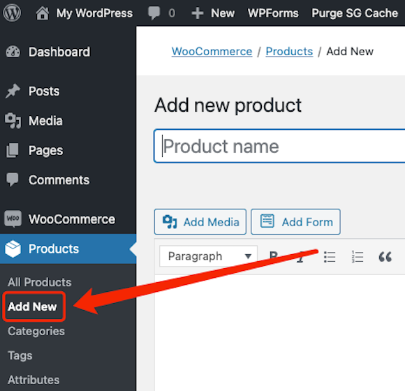 Create a product on WooCommerce with Woo DSers - Add New Product - Woo DSers
