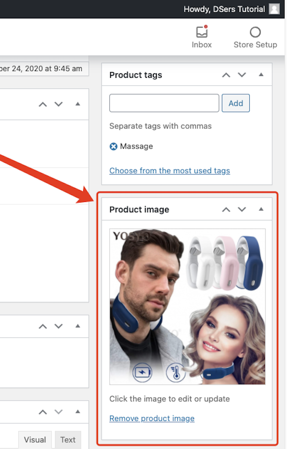 Create a product on WooCommerce with Woo DSers - Product Image Example - Woo DSers