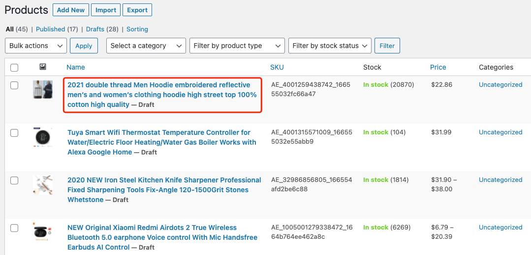 Edit a product on WooCommerce with Woo DSers - Edit product page - Woo DSers
