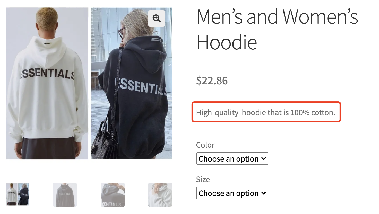 Edit a product on WooCommerce with Woo DSers - Product short description display - Woo DSers