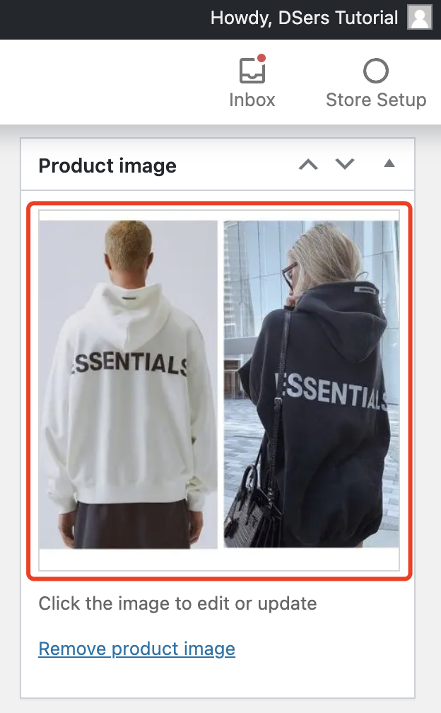 Edit a product on WooCommerce with Woo DSers - Product image - Woo DSers