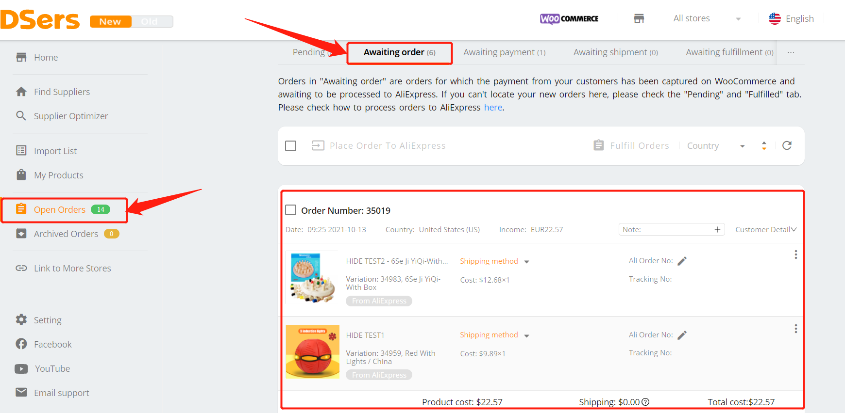 Hide a product with Woo DSers - DSers Open Page - Woo DSers