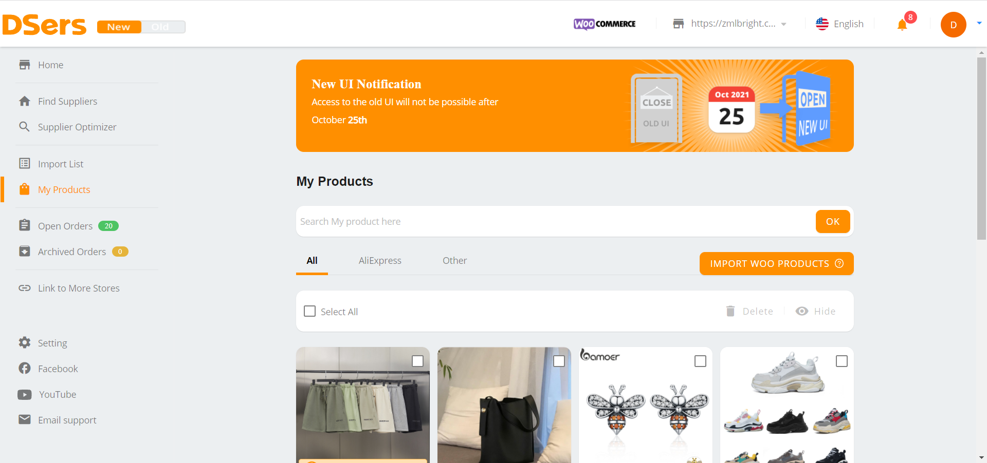 Why Woo DSers failed to connect to your WooCommerce store - Go back to DSers - Woo DSers